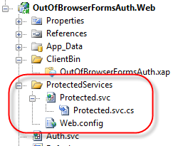 Protected Web Service