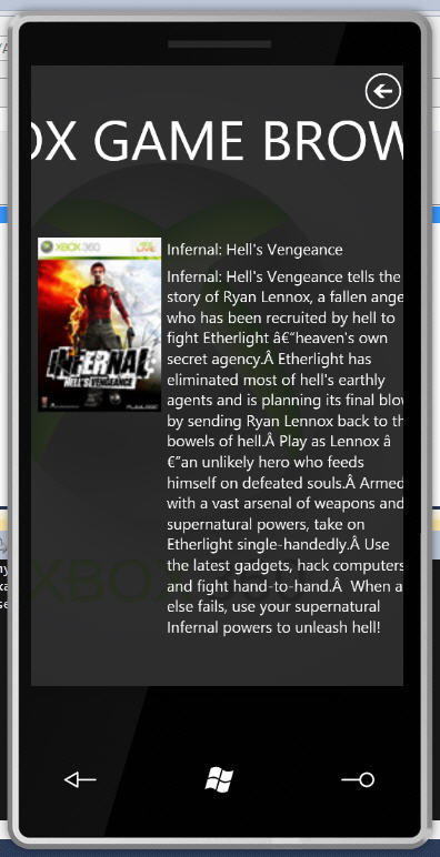 XBox Browser in the Phone #2